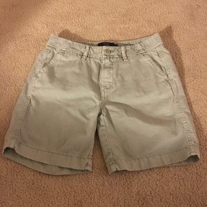 J. Crew Light Olive Green Chino Bermuda Shorts